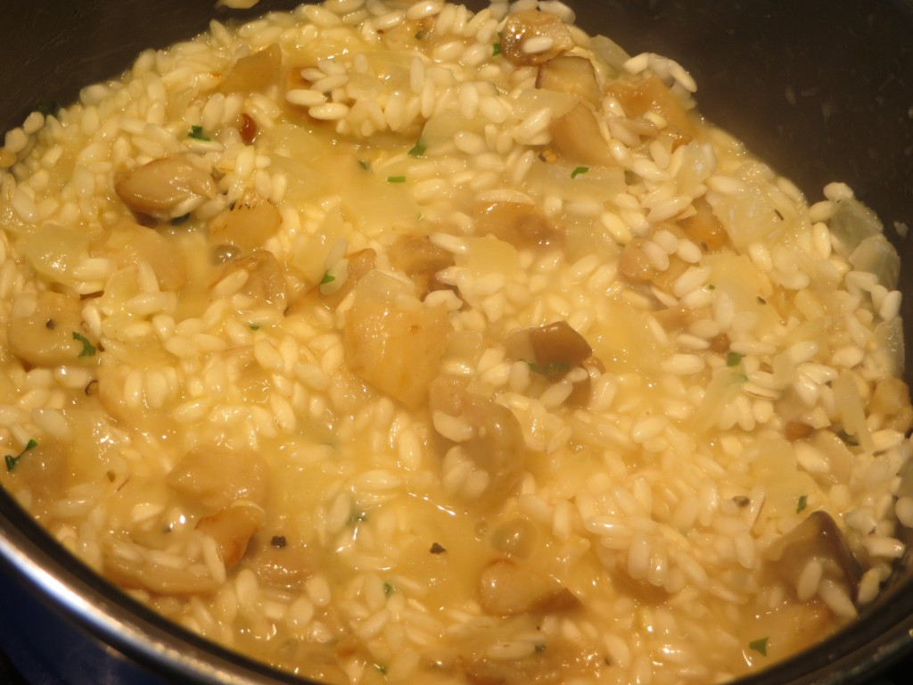 incorporación de los hongos al arroz