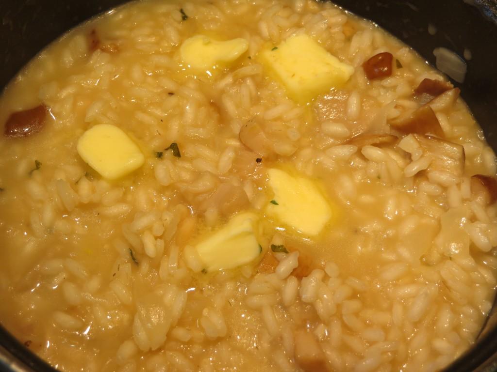mantequilla incorporada al arroz