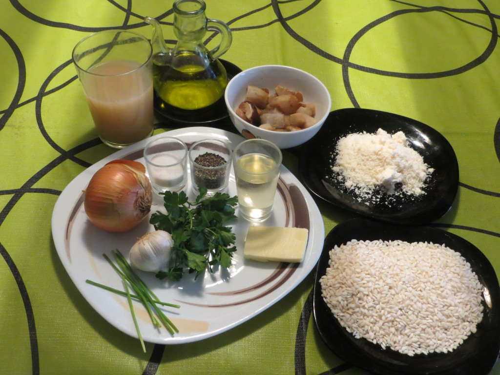 ingredientes del risotto de hongos