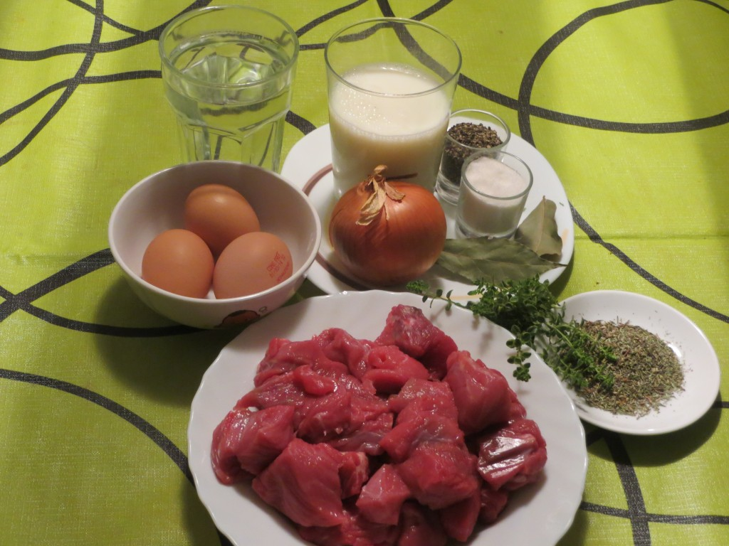ingredientes del estofado de carne a la antigua
