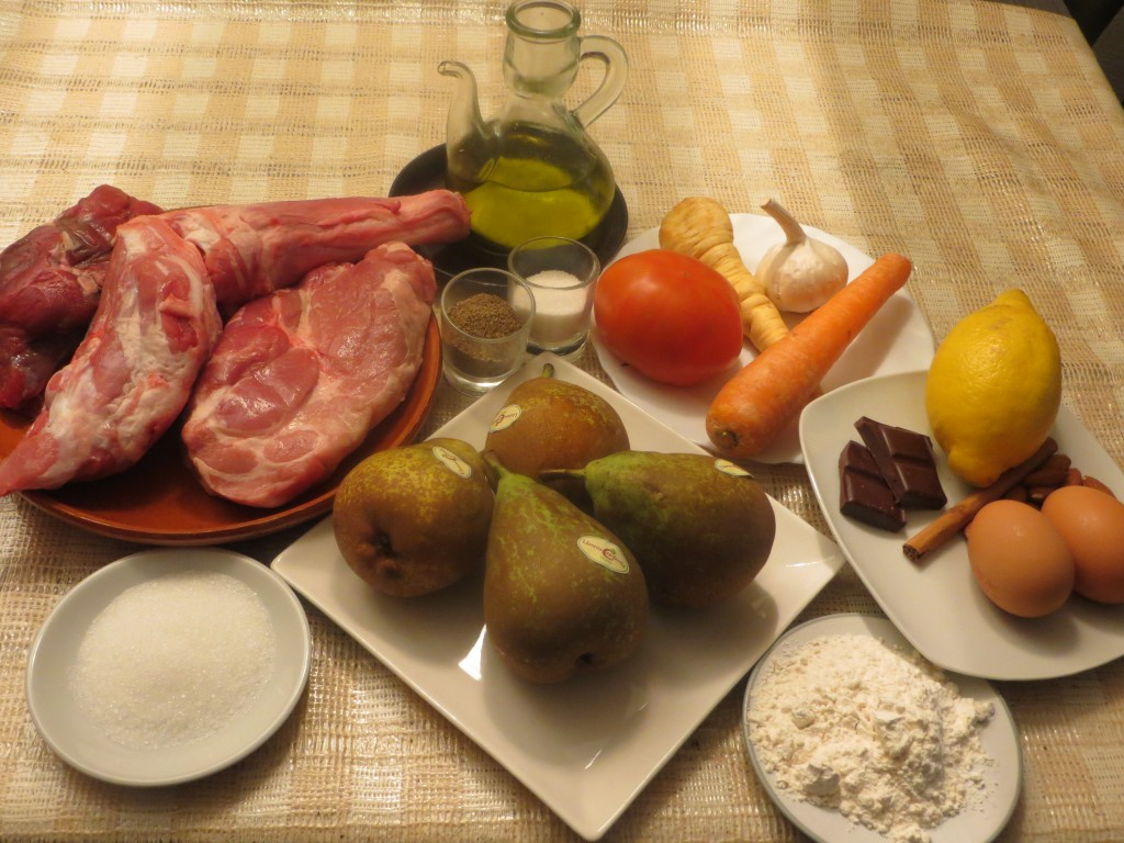 ingredientes peras rellenas