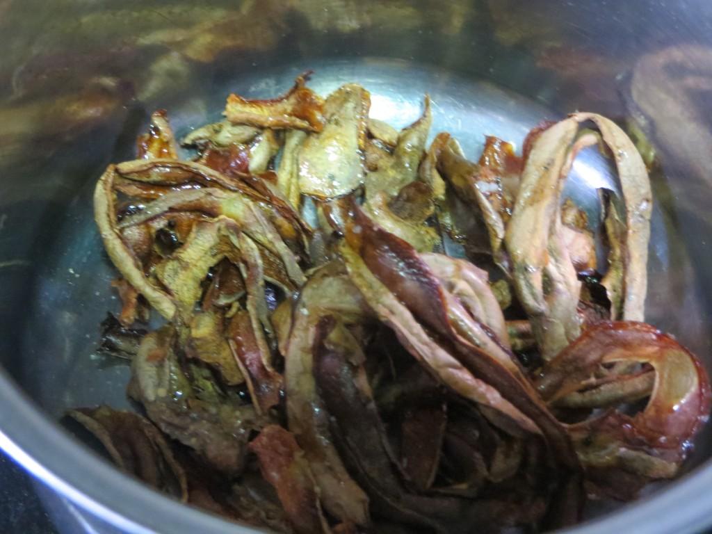 peladuras de patatas asadas