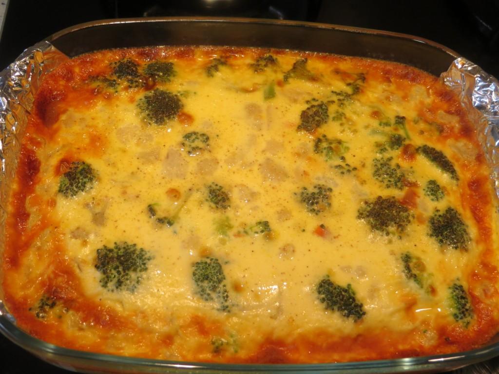 pastel de verduras acabado