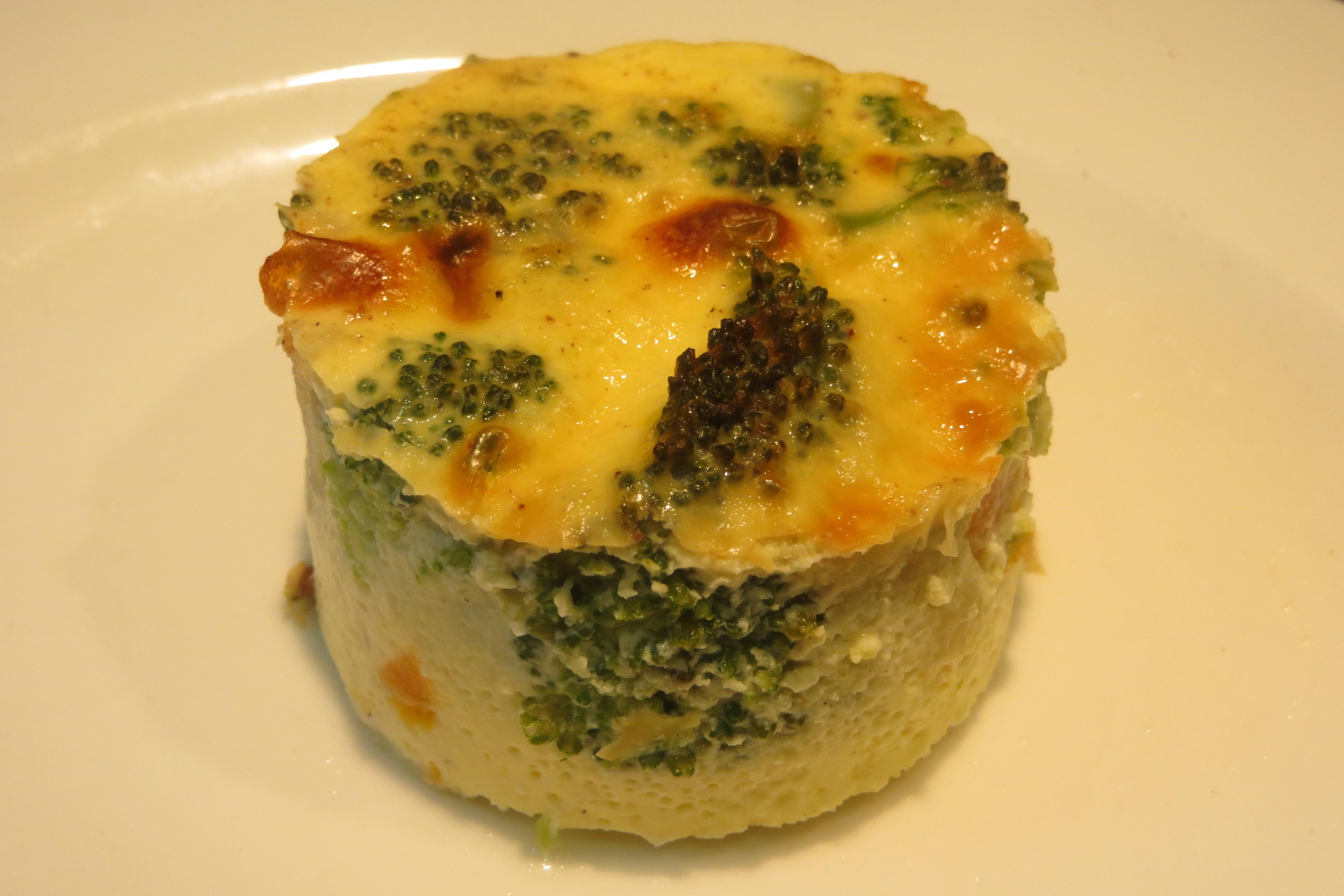 porción de pastel de verduras