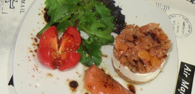 Receta tartar de salmón