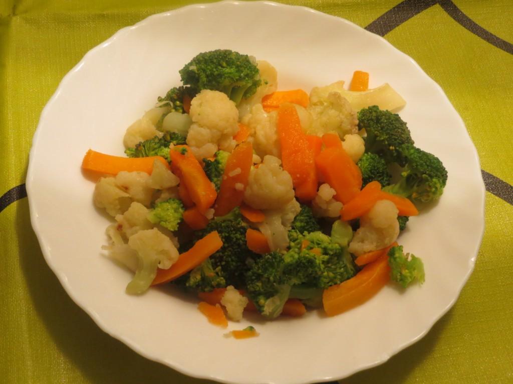 verduras medio cocidas