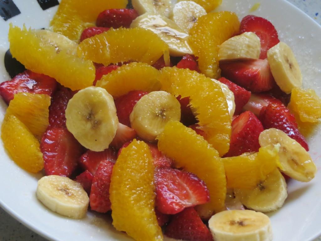 frutas preparadas para macerar