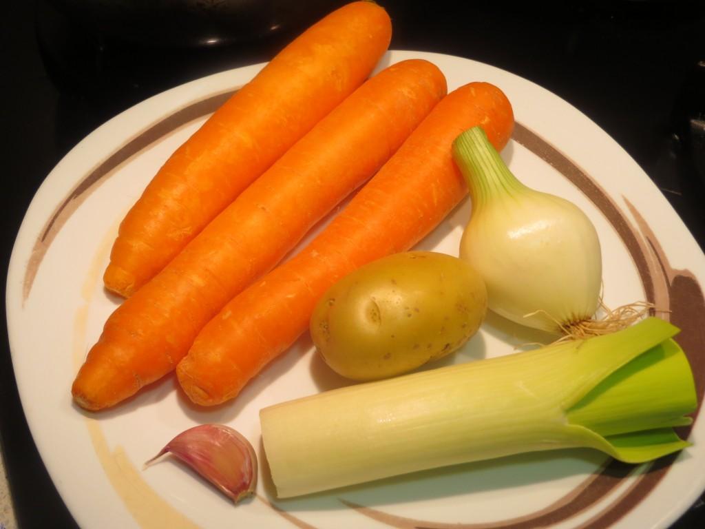 ingredientes de la crema de zanahoria