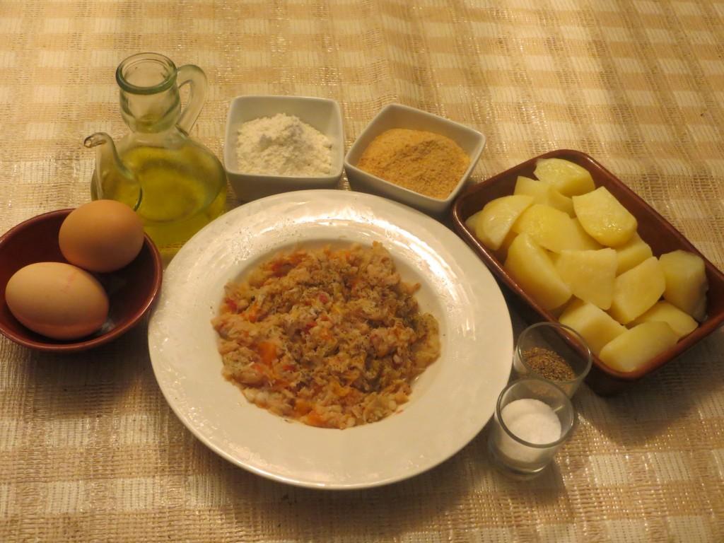 ingredientes del pastel de patata relleno