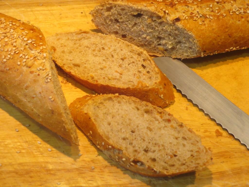 rebanadas de pan de cereales