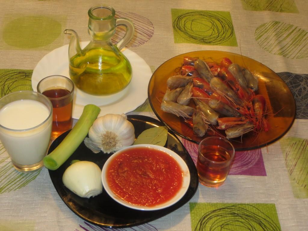 ingredientes de la salsa de rape con mariscos