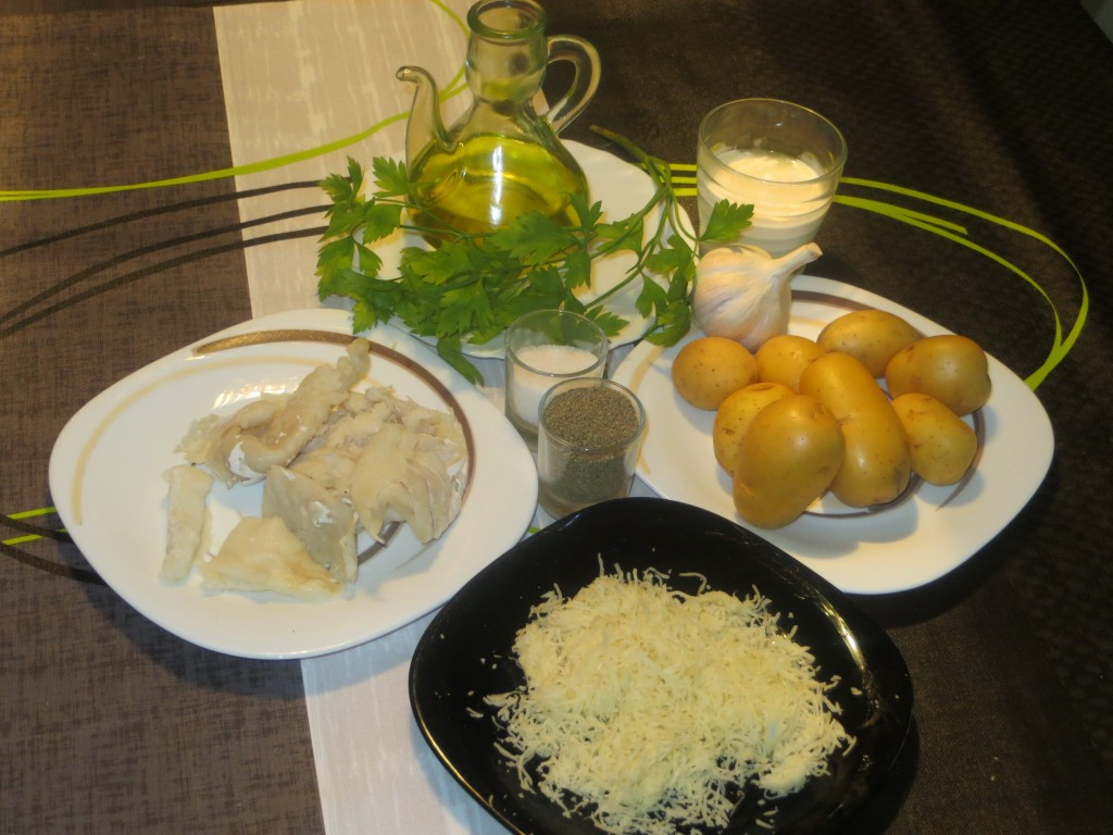 ingredientes aperitivo patatas rellenas de bacalao