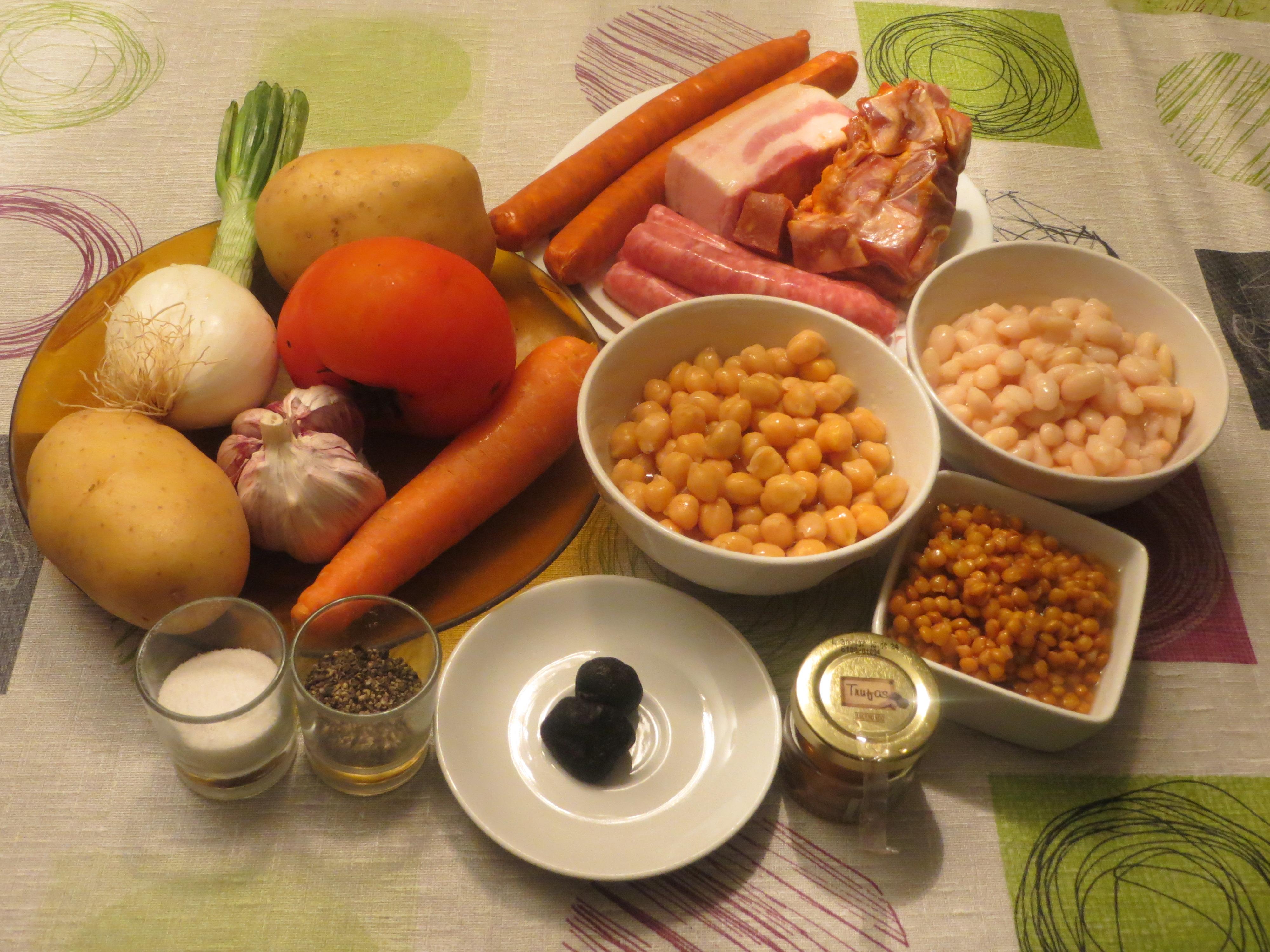 Jugando con fogones receta potaje de legumbres olla - Cocido en la olla express ...