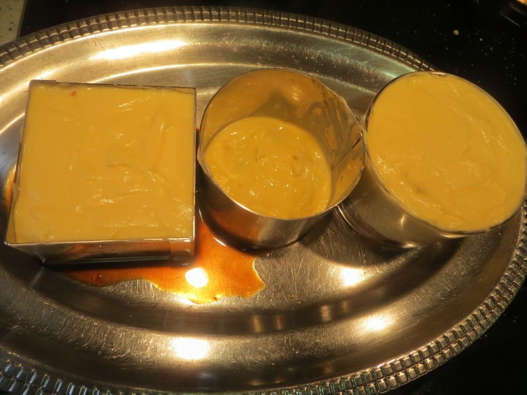 aros rellenos con la crema de mascarpone