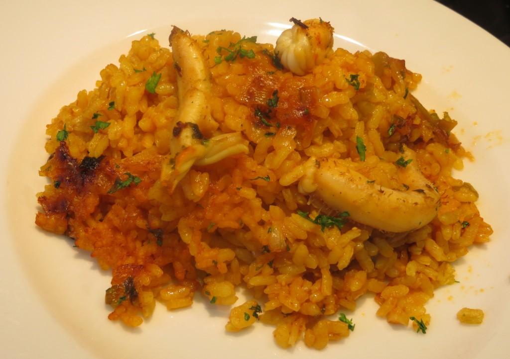 arroz con pepinos de mar