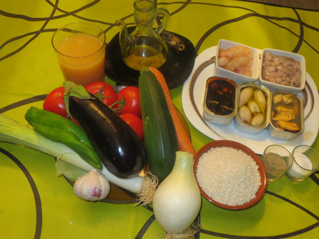 ingredientes arroz con mariscos enlatados