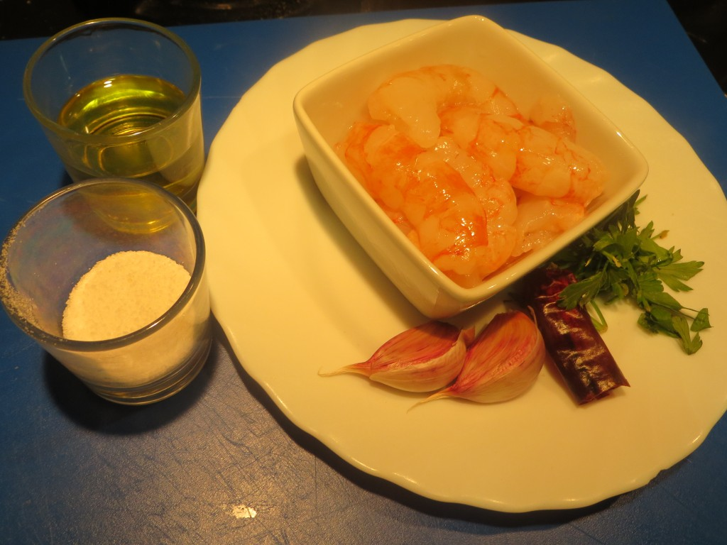 ingredientes de gambas al ajillo