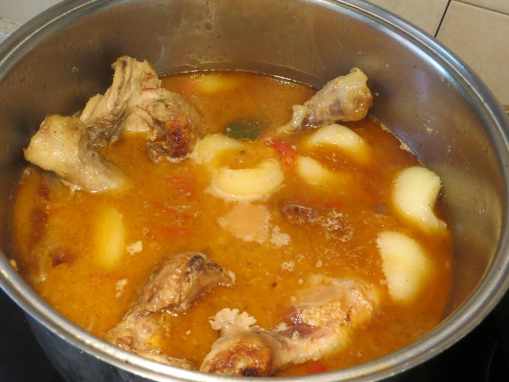 cocción del pollo conperas