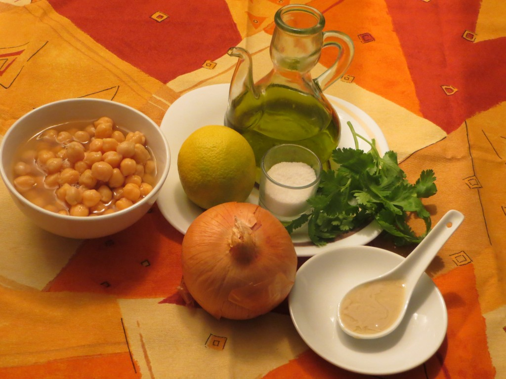 ingredientes crema de garbanzos