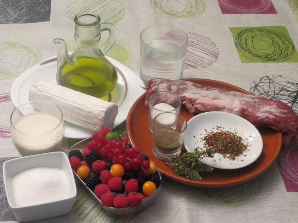 ingredientes solomillo de cerdo ibérico asado