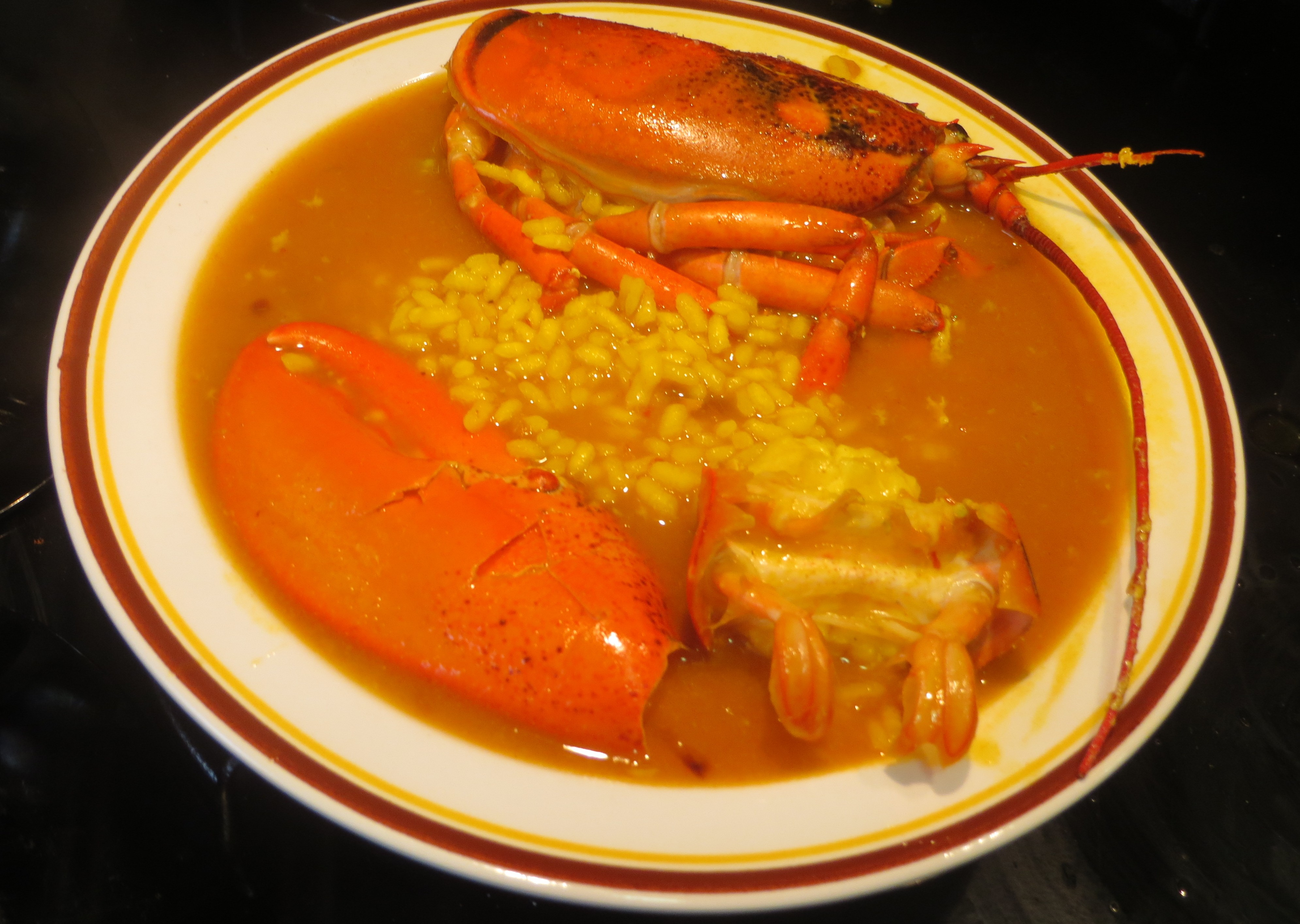 arroz caldoso de bogavante