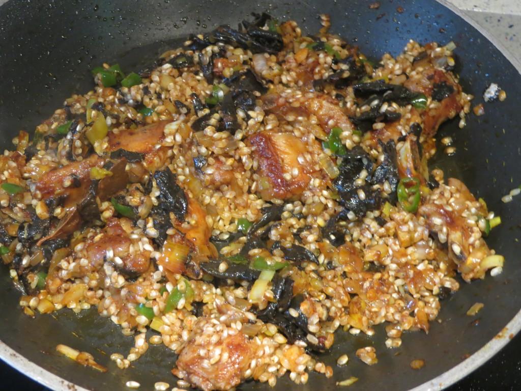 arroz incorporado al sofrito