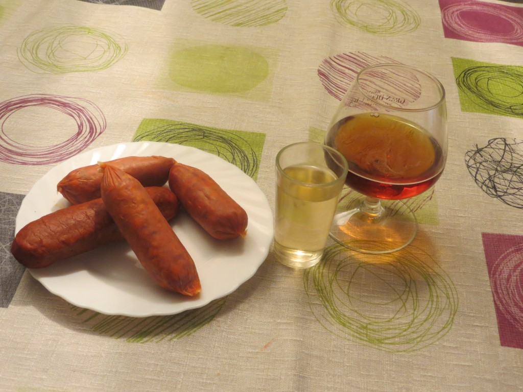 ingredientes chorizos fritos con vino