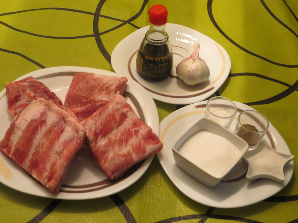 ingredientes costillas asadas