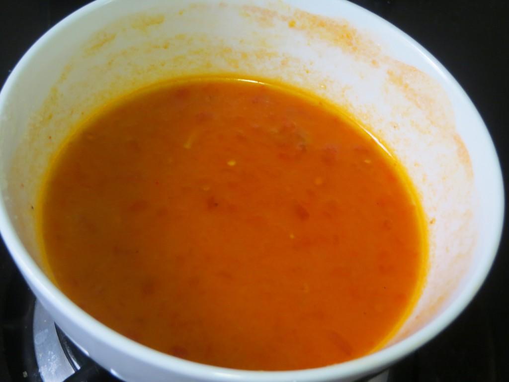 resto de ingredientes de la salsa agridulce en el bol