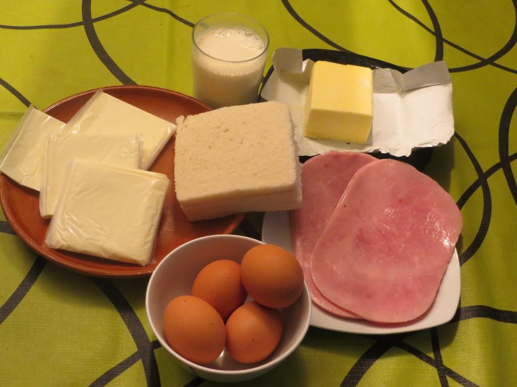 ingredientes del pudin con jamón york y queso