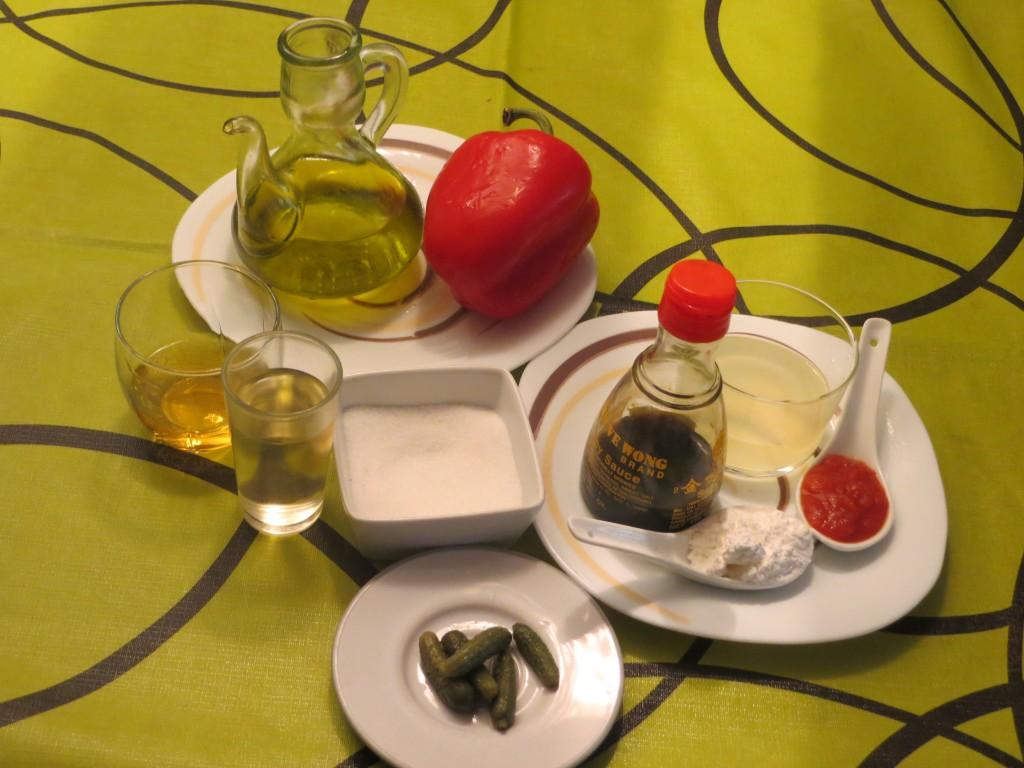ingredientes de la salsa agridulce