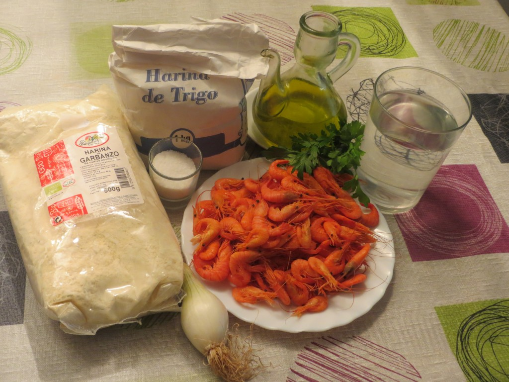 ingredientes tortillitas de camarones