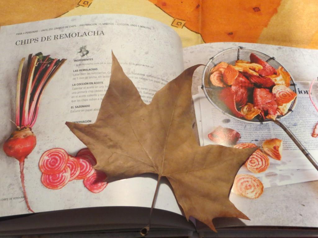 una de las recetas del libro chips caseras