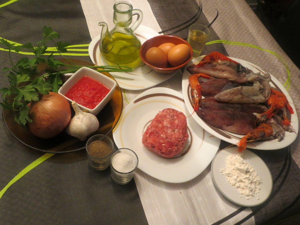 ingredientes calamares rellenos