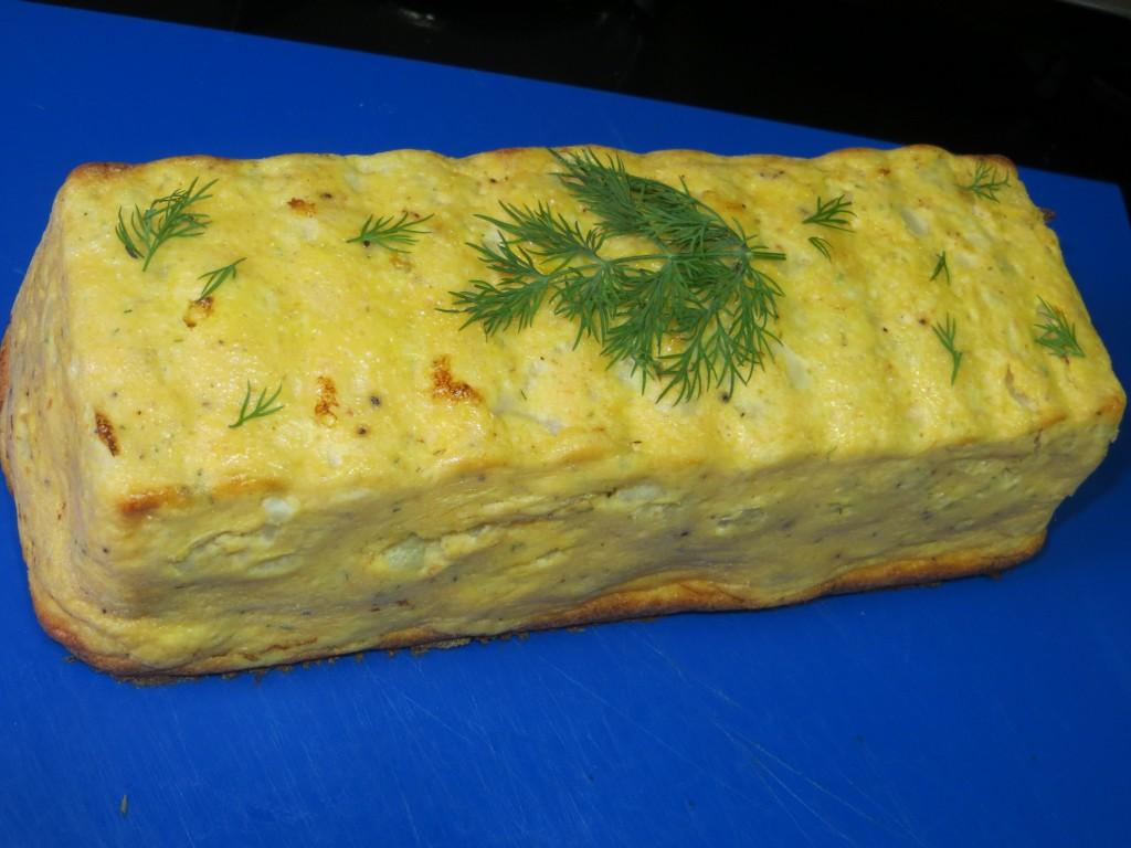pastel de salmón y coliflor