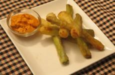 calçots rebozados en tempura