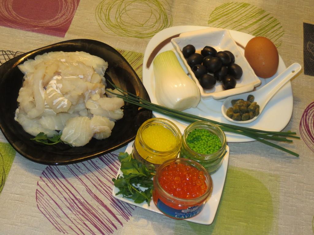 ingredientes del tartar de bacalao