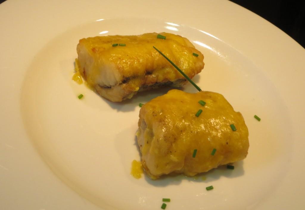 merluza con alioli de yema de huevo