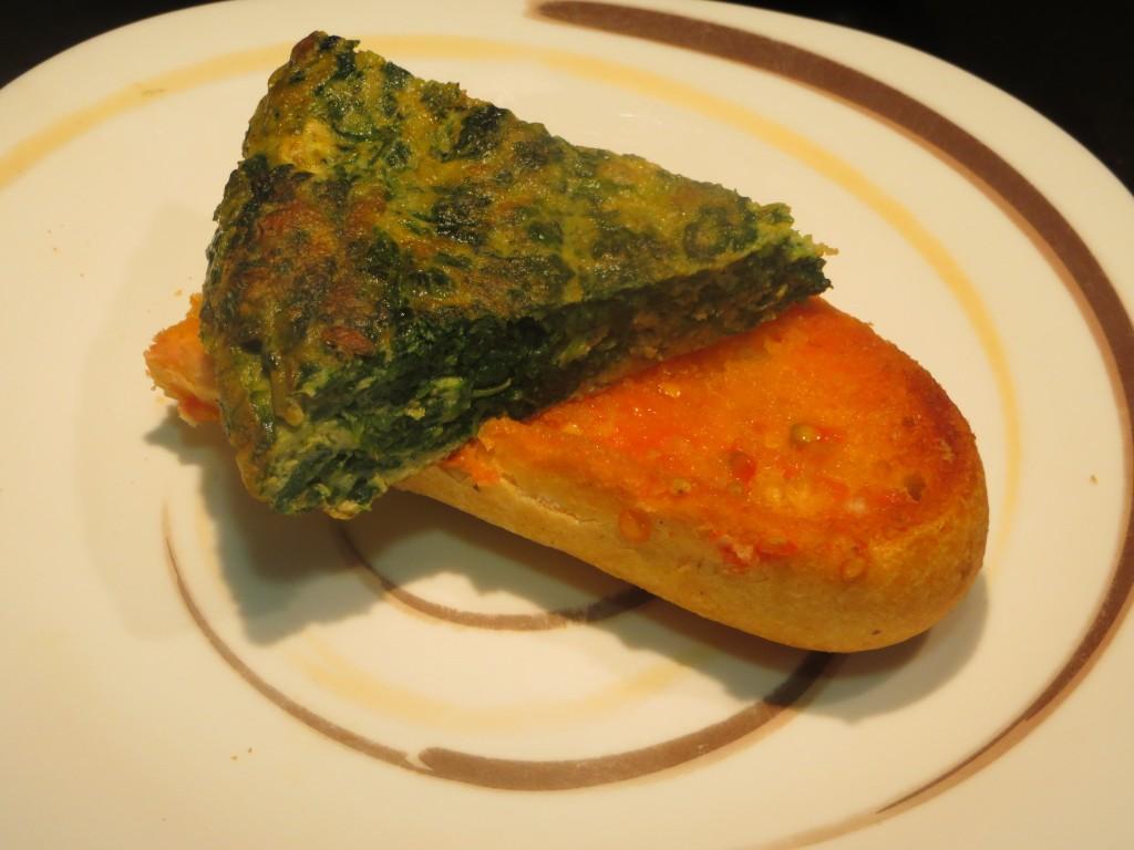 pincho de tortilla de espinacas