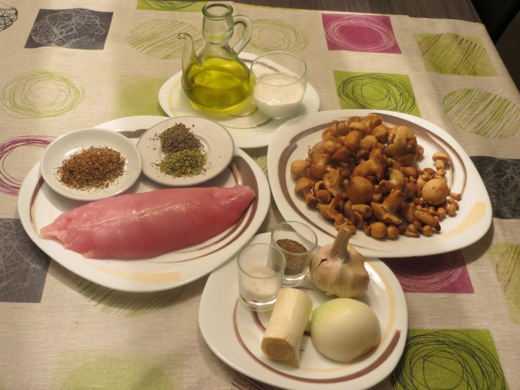 ingredientes solomillo de pavo con salsa de setas