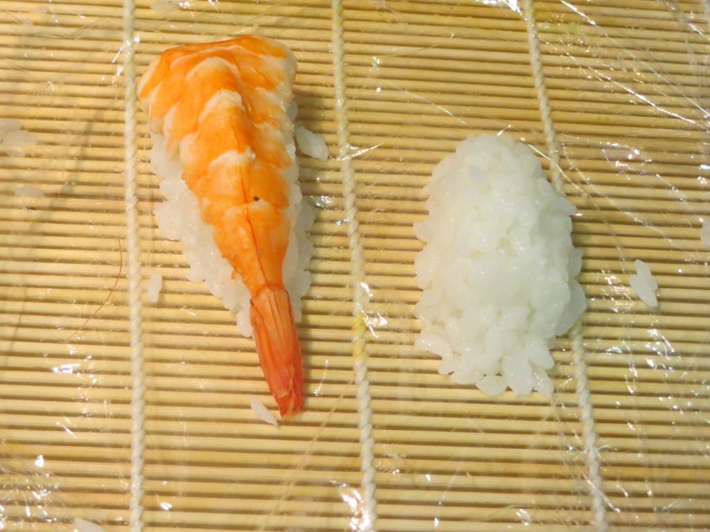 montículo oblongo de arroz