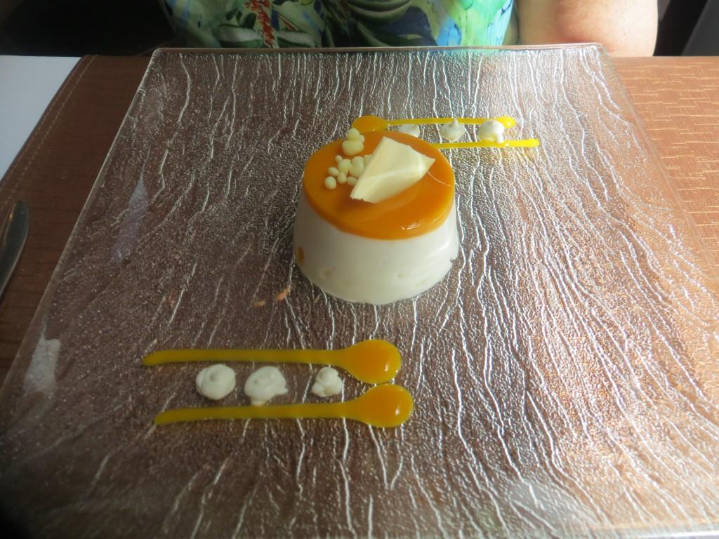 mousse de yogur con mango