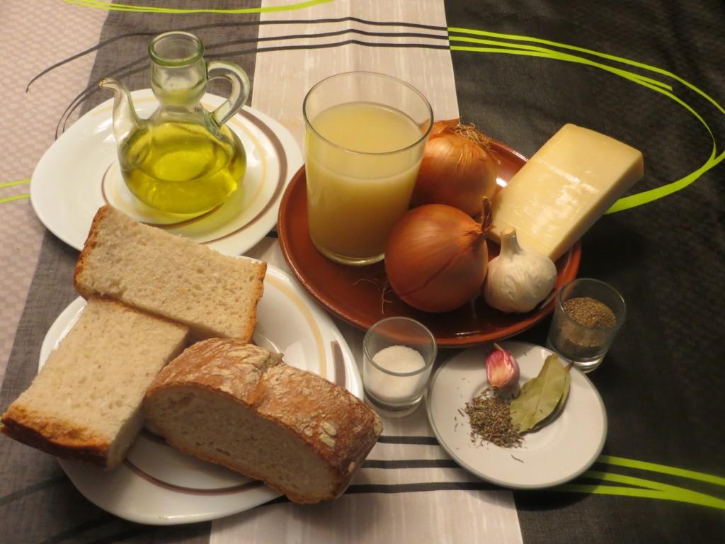 ingredientes de la sopa de cebolla