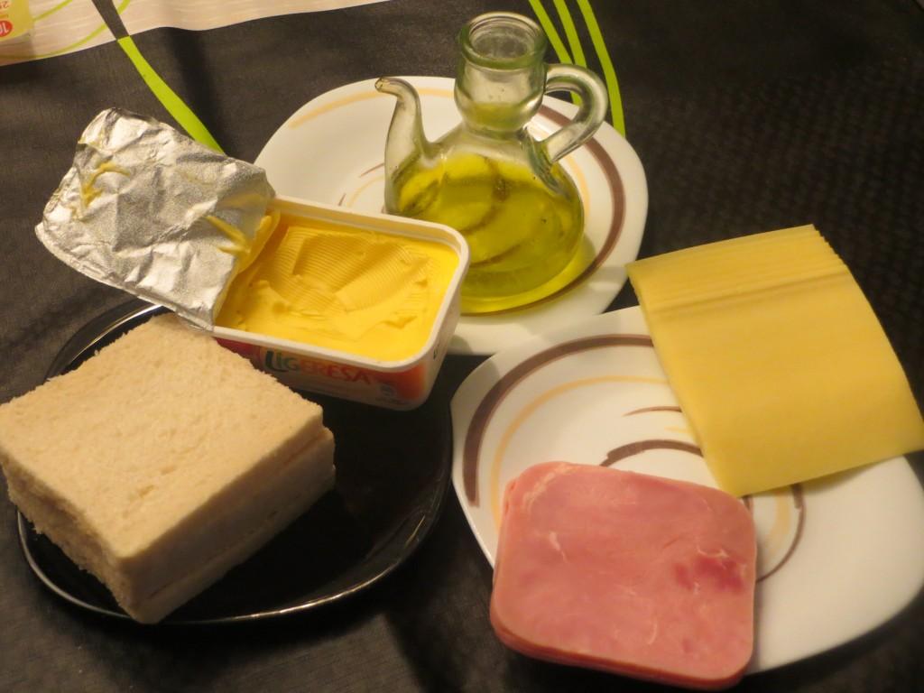 ingredientes emparedado de jamón york y queso