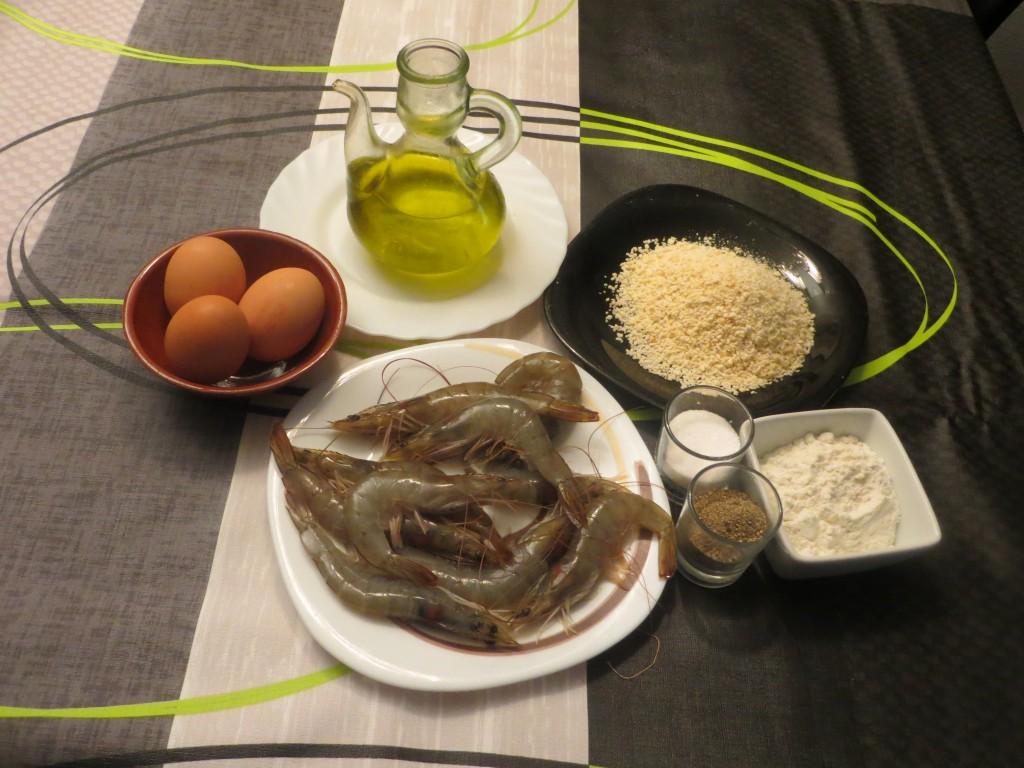 ingredientes langostinos empanados crujientes