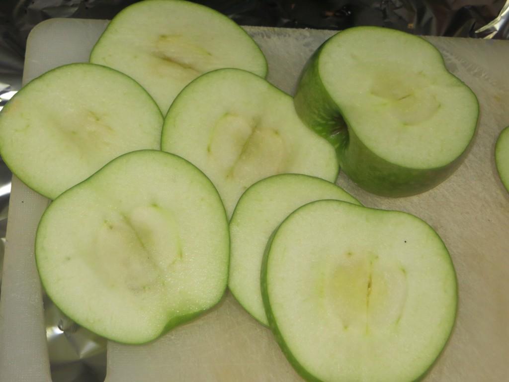 manzana cortada a láminas