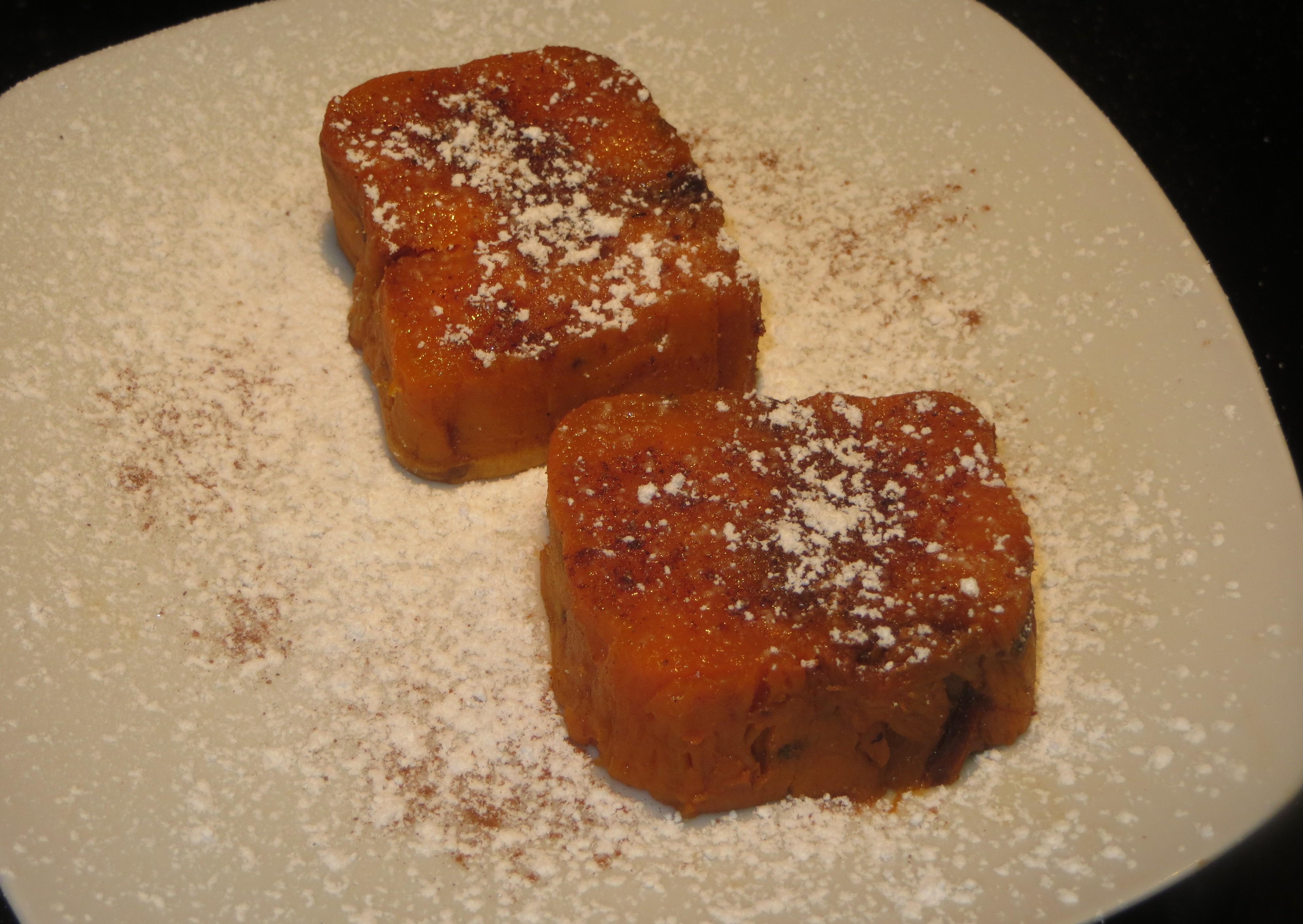 moniatos asados con azúcar glas y canela