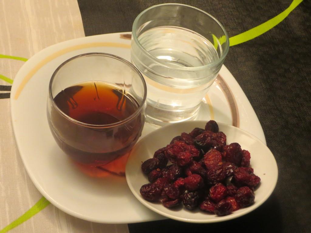 ingredientes salsa de arándanos rojos secos