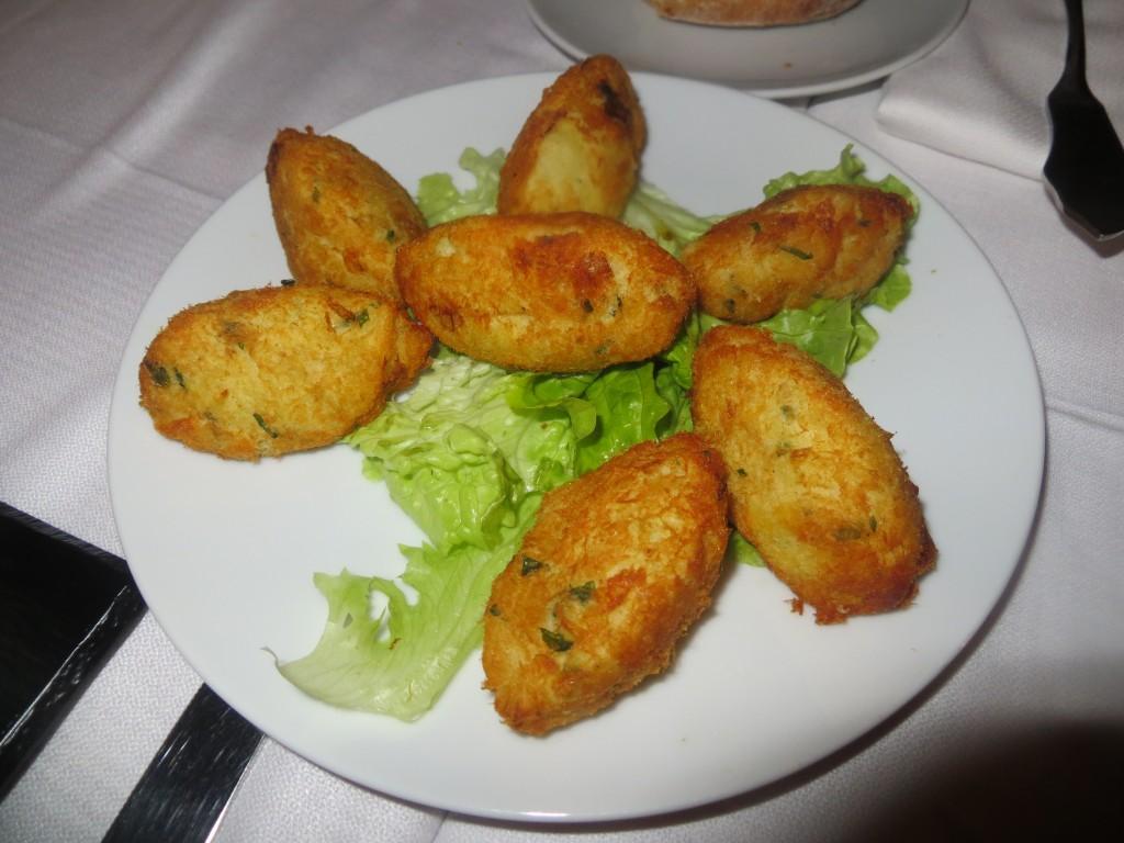buñuelos de bacalao del Café-Restaurante Luso