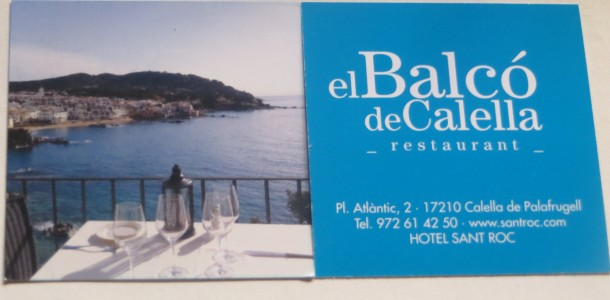 restaurante el balcó de Calella